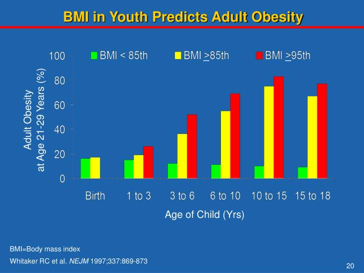 BMI in Youth Predicts Adult Obesity