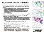 applications storm prediction