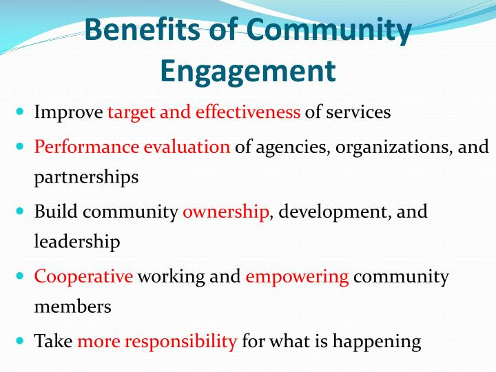 Benefits of Community Engagement
