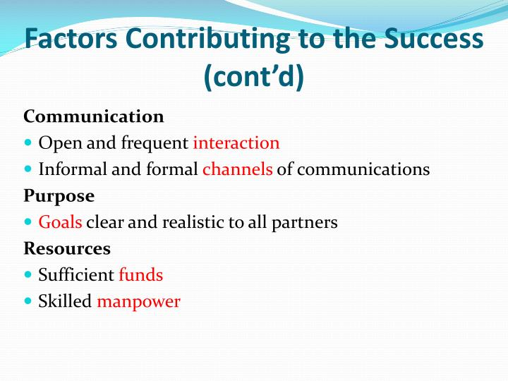 Factors Contributing to the