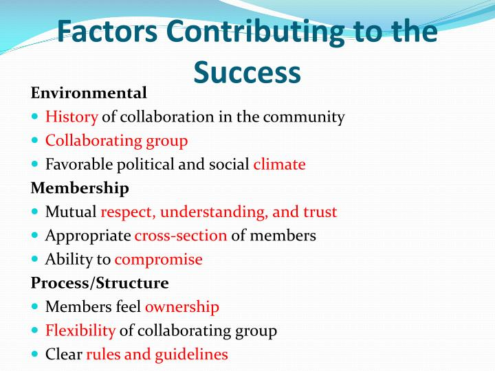 Factors Contributing to the Success