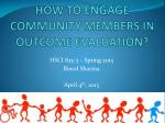 how to engage community members in outcome evaluation