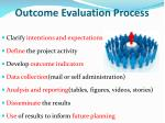 outcome evaluation process