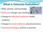 what is outcome evaluation