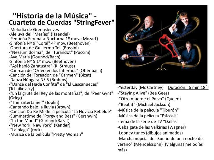 """""""Historia de la Música"""" -"""