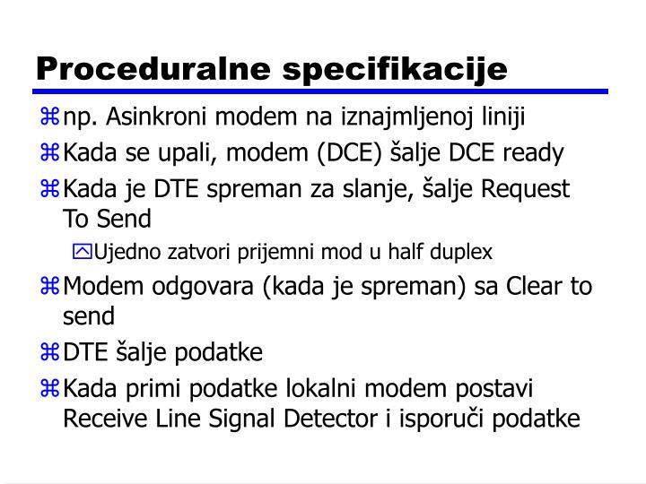 Proceduralne specifikacije