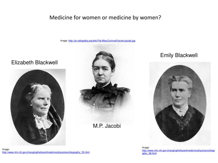 Medicine for women or medicine by women?