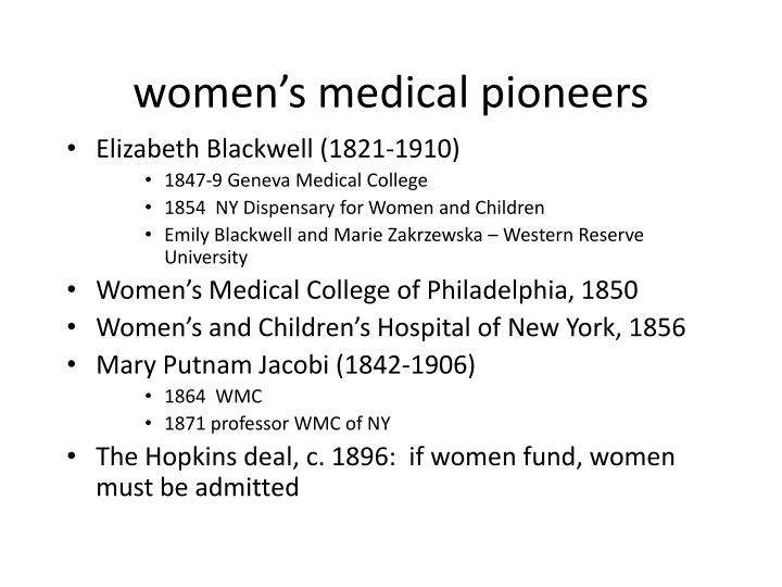 women's medical pioneers