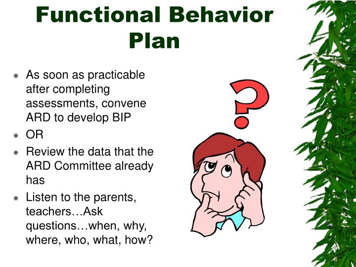 Functional Behavior Plan