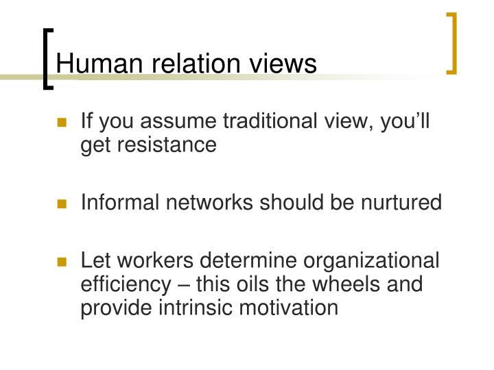 Human relation views