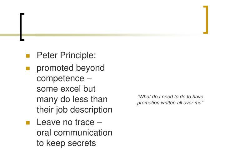 Peter Principle: