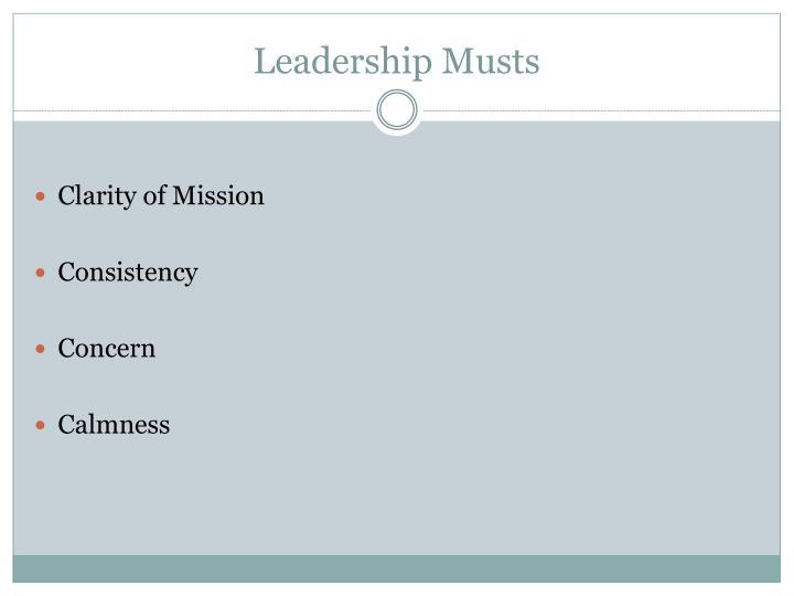Leadership Musts