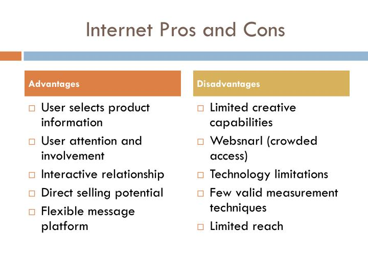 Internet Pros and Cons
