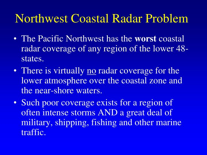 Northwest Coastal Radar Problem