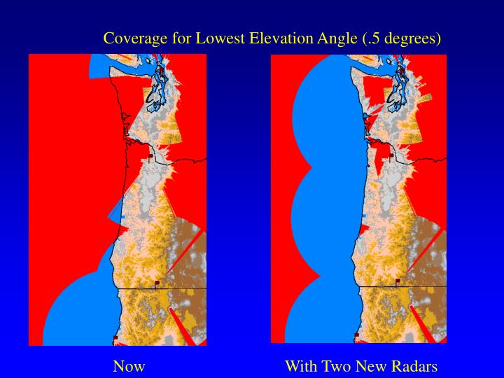 Coverage for Lowest Elevation Angle (.5 degrees)