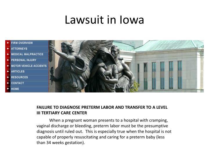 Lawsuit in Iowa