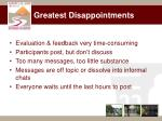 greatest disappointments