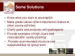 some solutions