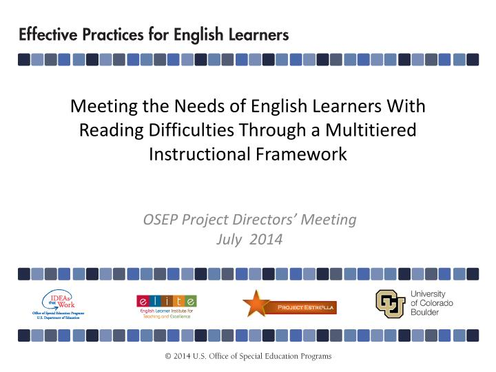 Meeting the Needs of English Learners With Reading Difficulties Through a Multitiered Instructional