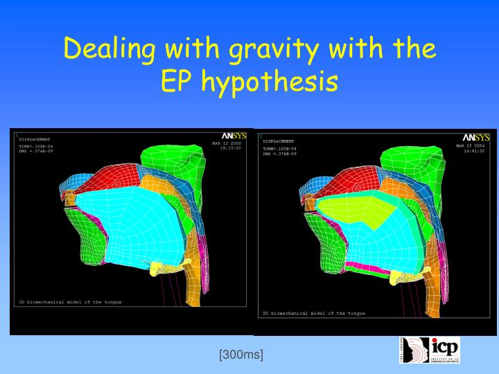 Dealing with gravity with the EP hypothesis