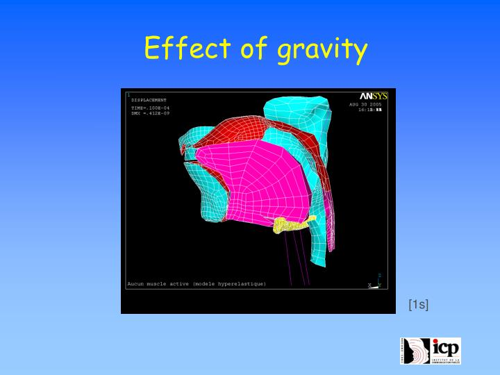 Effect of gravity