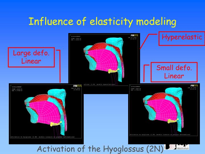Influence of elasticity modeling