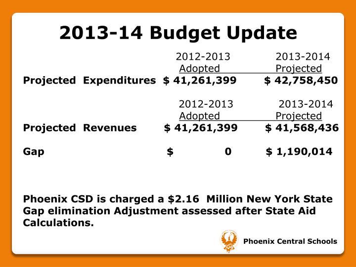 2013-14 Budget Update