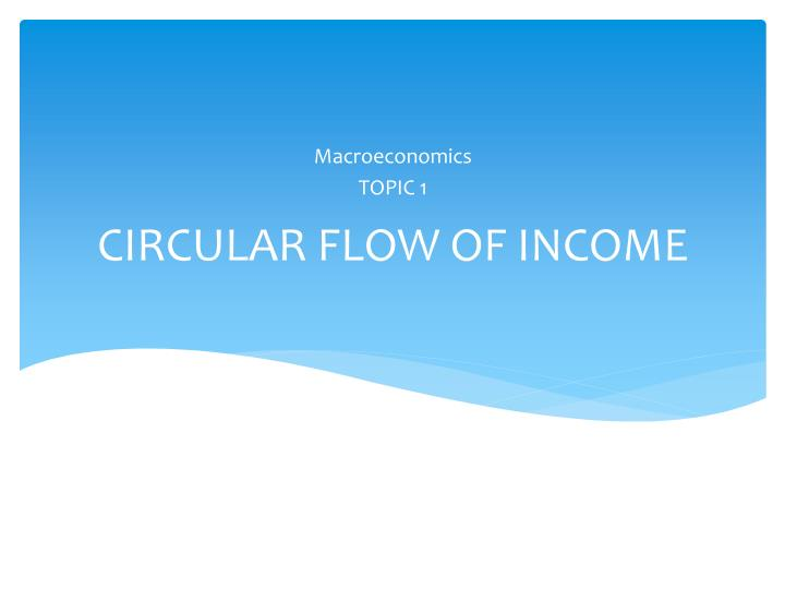 circular flow of national income pdf