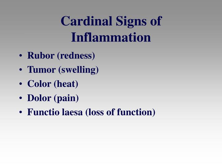 Cardinal signs of inflammation