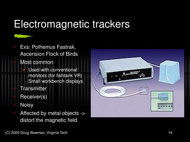 Electromagnetic trackers