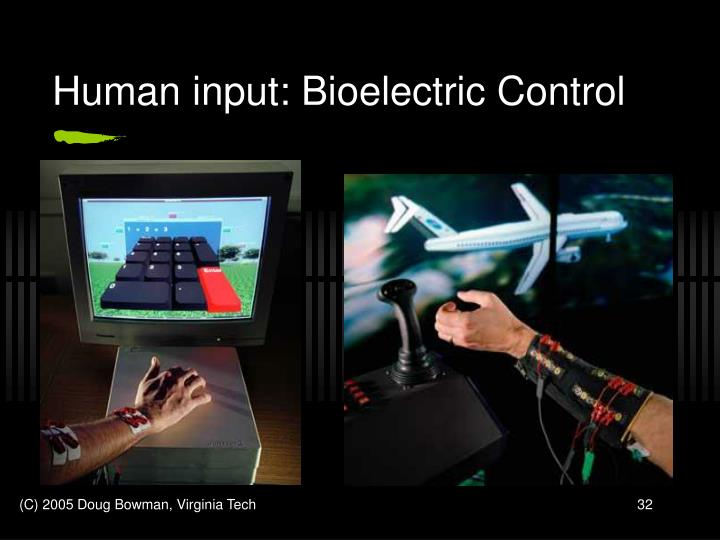 Human input: Bioelectric Control
