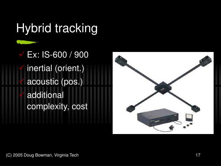 Hybrid tracking