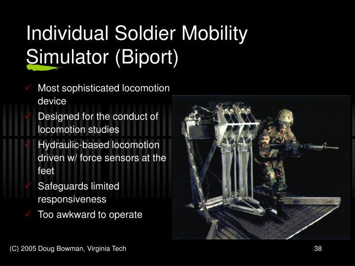 Individual Soldier Mobility Simulator (Biport)