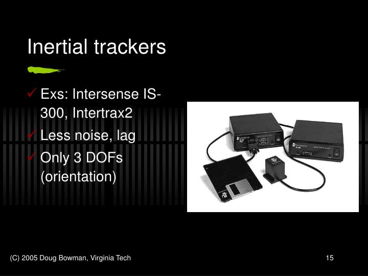Inertial trackers
