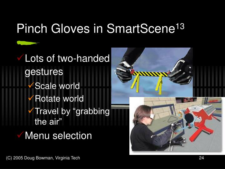 Pinch Gloves in SmartScene