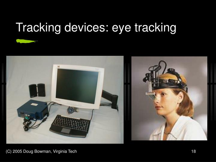 Tracking devices: eye tracking