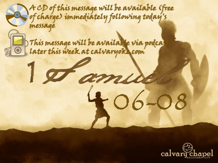 A CD of this message will be available (free of charge) immediately following today's message