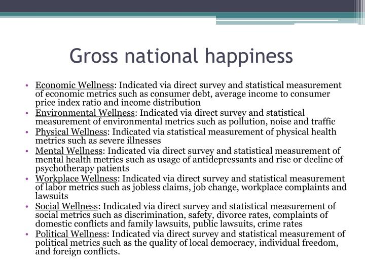 Gross national happiness