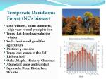 temperate deciduous forest nc s biome
