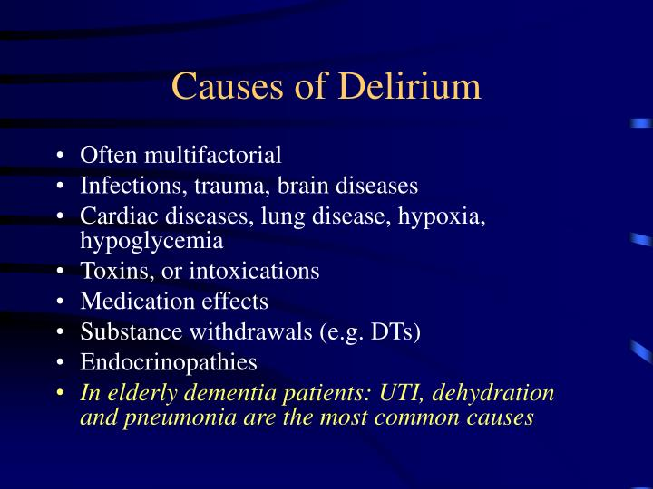 Causes of Delirium
