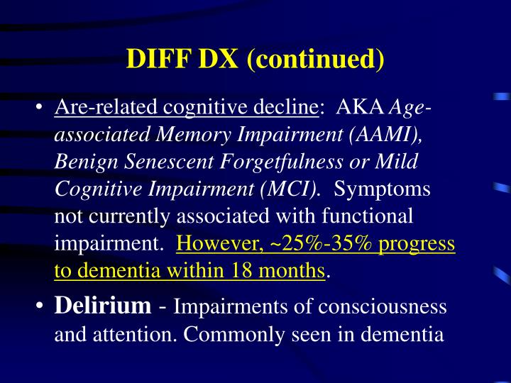 DIFF DX (continued)