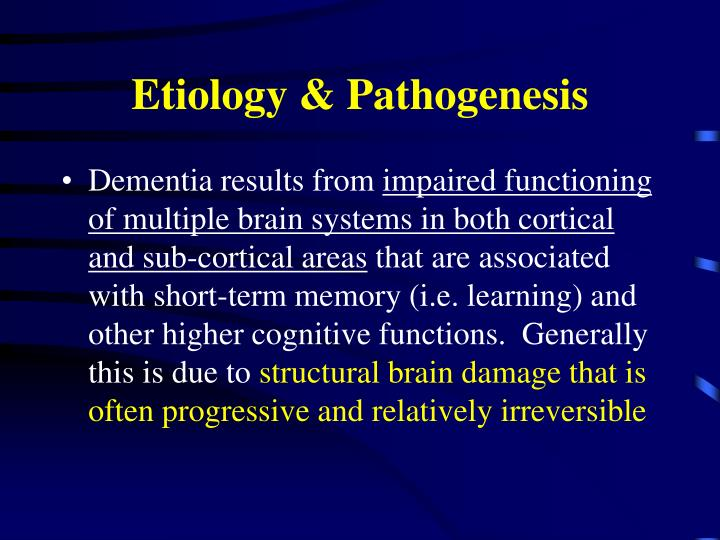 Etiology & Pathogenesis