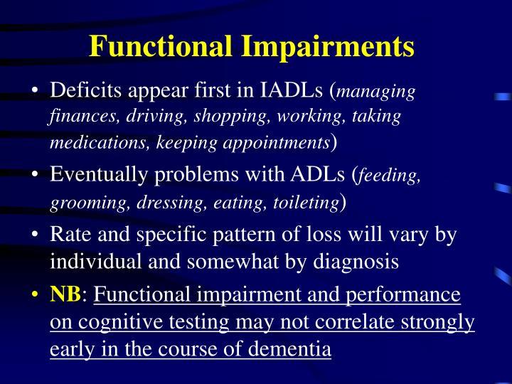 Functional Impairments