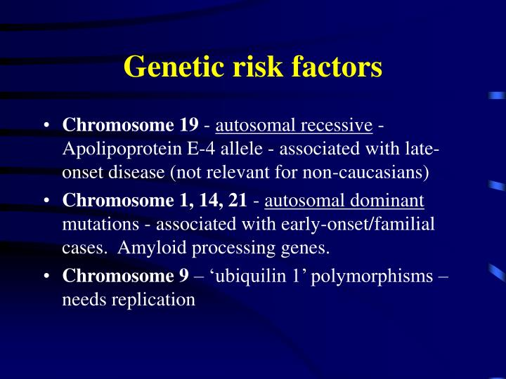 Genetic risk factors