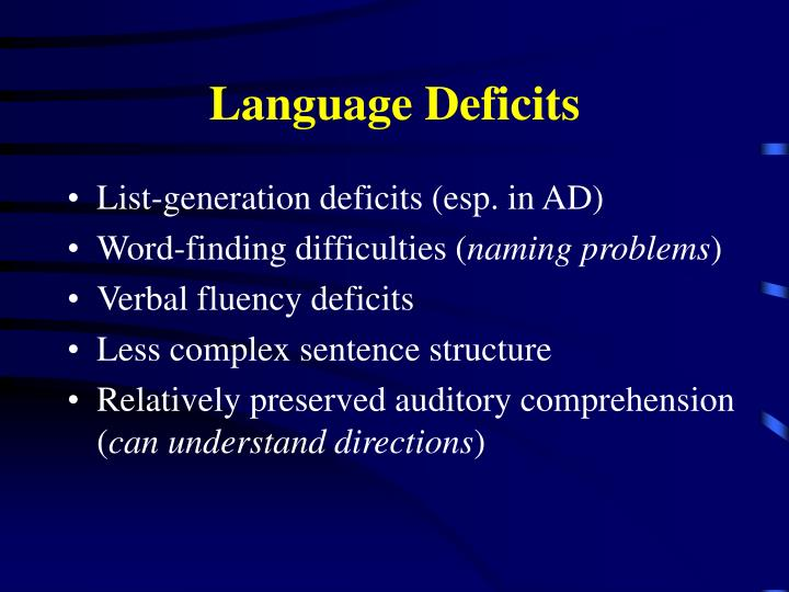 Language Deficits