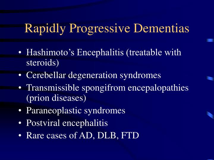 Rapidly Progressive Dementias