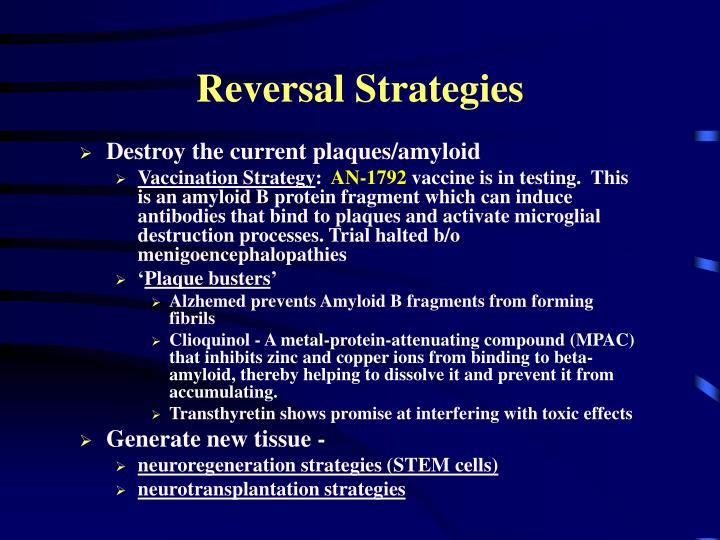 Reversal Strategies