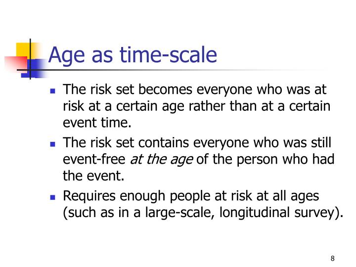 Age as time-scale