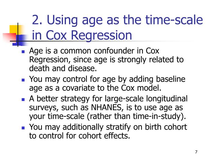 2. Using age as the time-scale