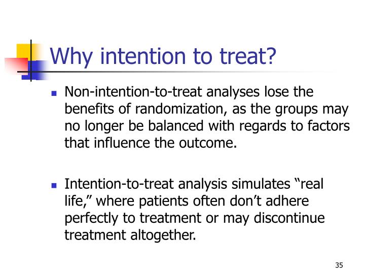 Why intention to treat?